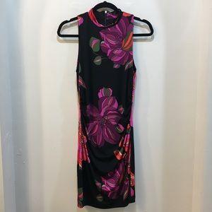 Trina Trina Turk Mock Turtleneck Floral Dress